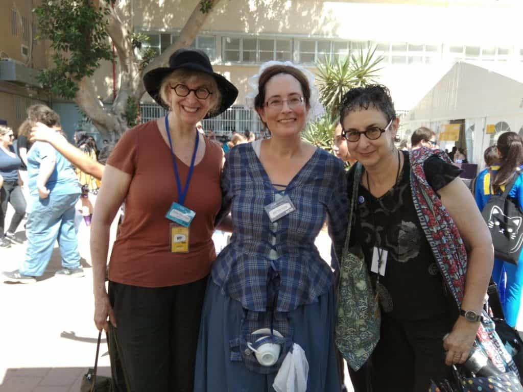 with Ellen Kushner and Delia Sherman at Icon