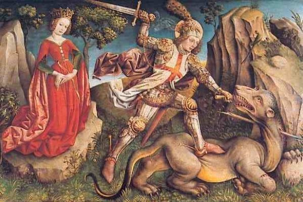 Saint George Slaying the Dragon by Jost Haller