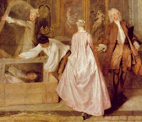 Antoine Watteau: Shop sign of the art dealer Gersaint (detail)